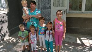 Natasha's family, served by School Without Walls students in Moldova
