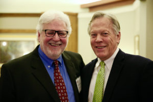 Wayne Shepherd and Joseph Stowell at Mission Eurasia's April 2018 banquet in IL