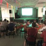 World Cup screening event at an evangelical church