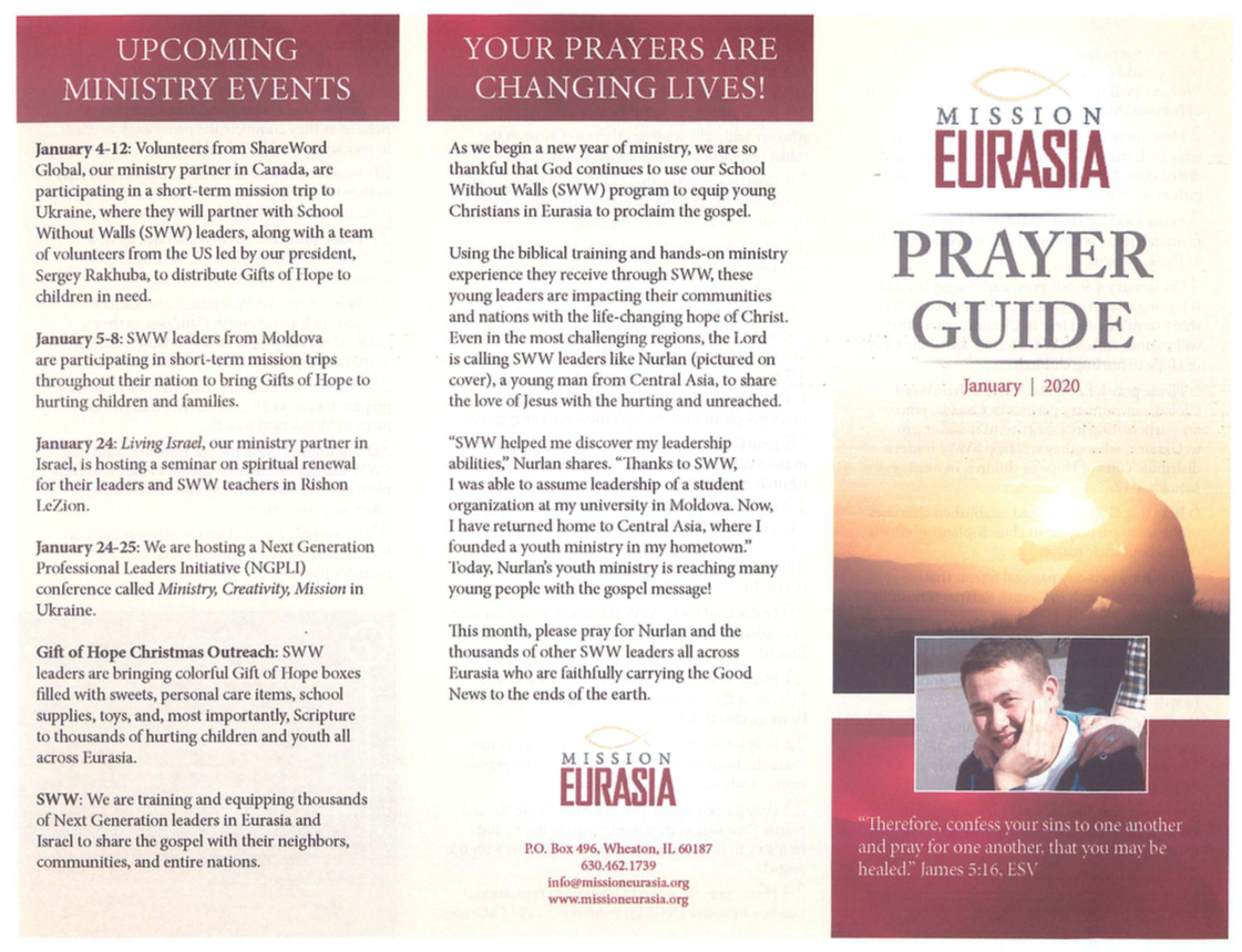 January 2020 Prayer Guide