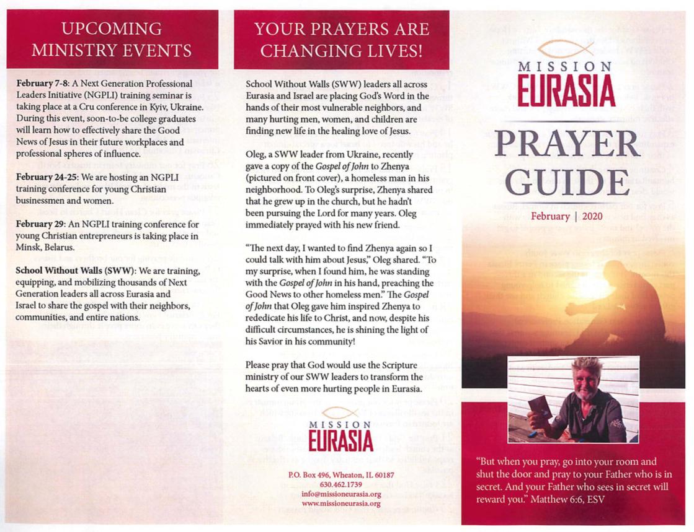 February 2020 Prayer Guide