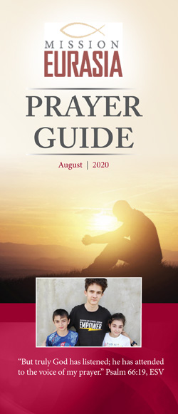 August 2020 prayer guide cover page